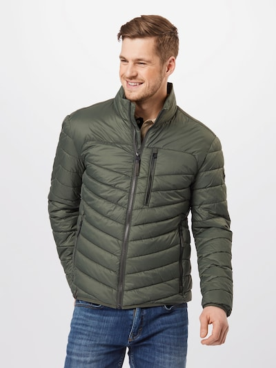 CAMEL ACTIVE Between-season jacket in dark green: Frontal view