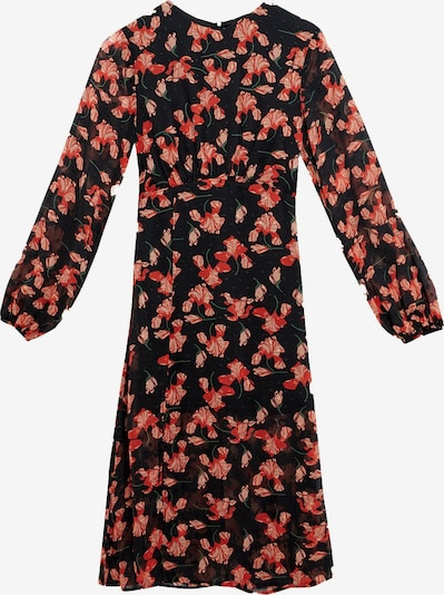 Zibi London Kleid in mischfarben / melone / schwarz, Produktansicht