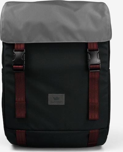 Freibeutler Sac à dos en gris / rouge foncé / noir, Vue avec produit