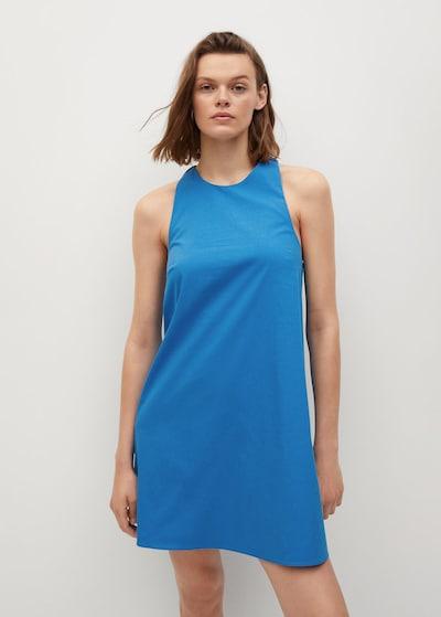 MANGO Kleid 'VITA' in royalblau, Modelansicht