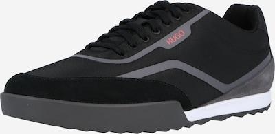 HUGO Ниски маратонки 'Matrix' в сиво / черно, Преглед на продукта