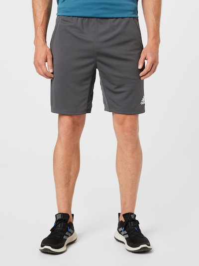 ADIDAS PERFORMANCE Športové nohavice - tmavosivá, Model/-ka