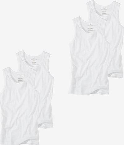 TOM TAILOR Tom Tailor Tom Tailor 2er Pack Herren Unterhemd Rundhals Crew Neck S-XXL - Farbauswahl in weiß, Produktansicht
