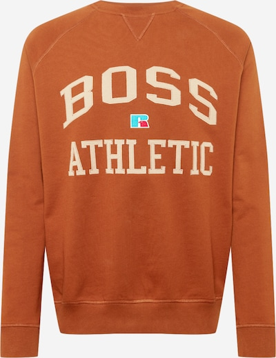 BOSS Casual Sweater majica 'Stedman Russell Athletic' u bež / tirkiz / smeđa / bijela, Pregled proizvoda