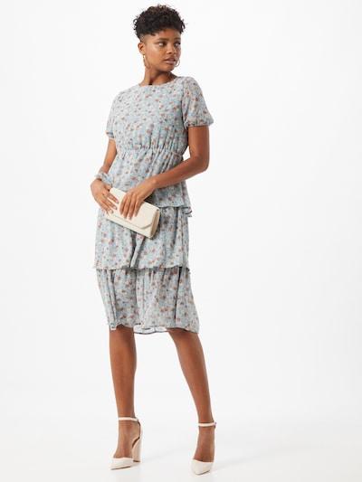 VILA Kleid in beige / himmelblau, Modelansicht