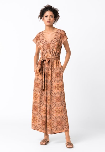 HALLHUBER Jumpsuit mit Batikdruck in mischfarben, Modelansicht