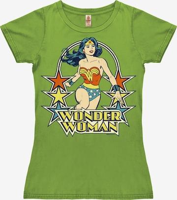 LOGOSHIRT Shirt 'Wonder Woman Stars' in Green