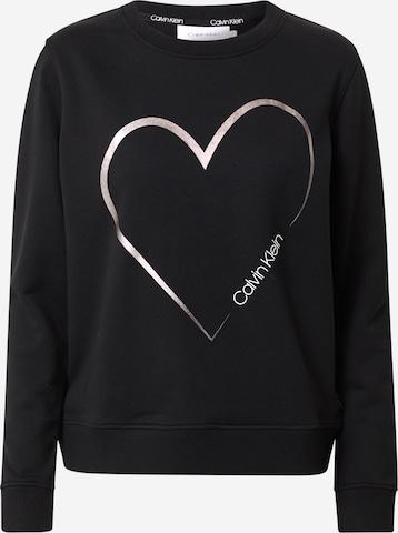 Calvin Klein Sweatshirt 'VALENTINES' in Black