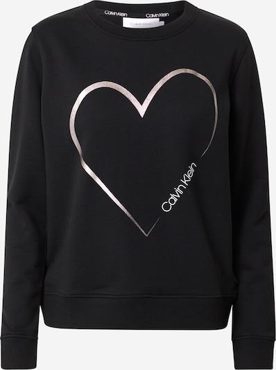 Calvin Klein Sweater majica 'VALENTINES' u crna / srebro / bijela, Pregled proizvoda