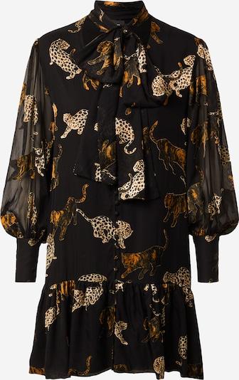 The Kooples Košilové šaty 'Robe' - béžová / hnědá / oranžová / černá, Produkt