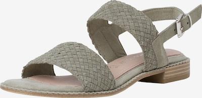 MARCO TOZZI Sandale in grau / pastellgrün, Produktansicht