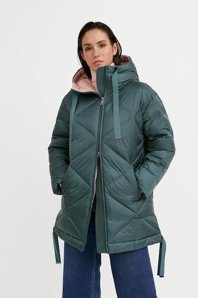 Finn Flare Wintermantel in de kleur Donkergroen, Modelweergave