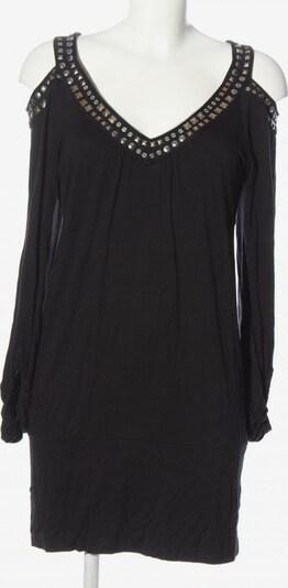 Mandarin Langarmkleid in M in schwarz, Produktansicht