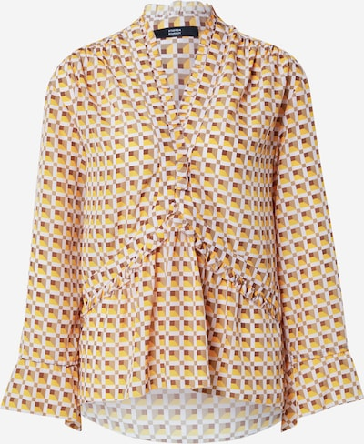 STEFFEN SCHRAUT Blusa 'Jasmine Fashionista' en crema / marrón / marrón oscuro / amarillo, Vista del producto