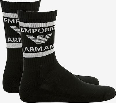 Emporio Armani Sokken in de kleur Zwart / Wit, Productweergave