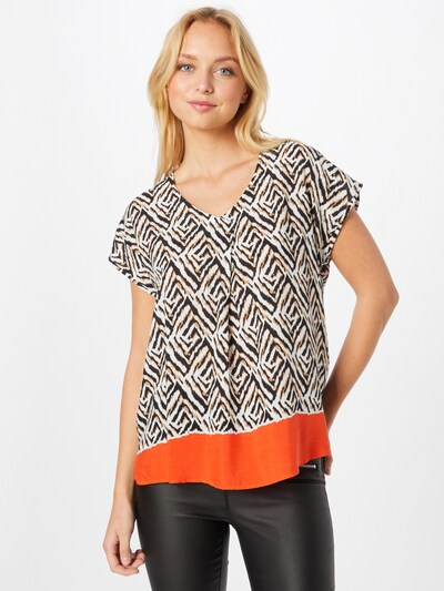 GERRY WEBER Blouse in Apricot / Black / White, View model