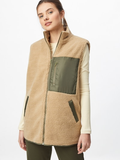 SISTERS POINT Vest 'EJA' in Khaki / Powder, View model