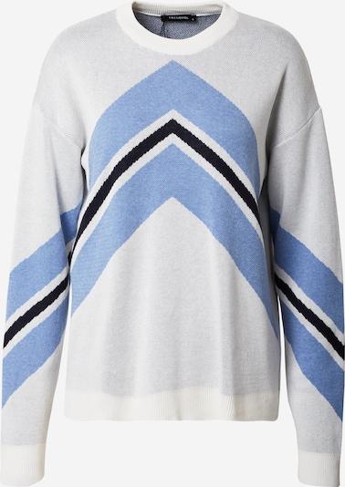 Trendyol Pullover in hellblau / schwarz / weiß, Produktansicht