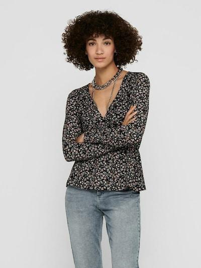 ONLY Блуза 'ZILLE' в зелено / оранжево / розе / черно, Преглед на модела