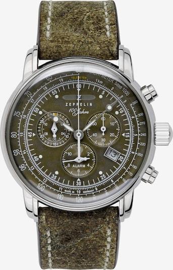 Zeppelin Uhr in oliv, Produktansicht