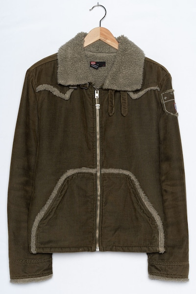 DIESEL Cordjacke in L in khaki, Produktansicht