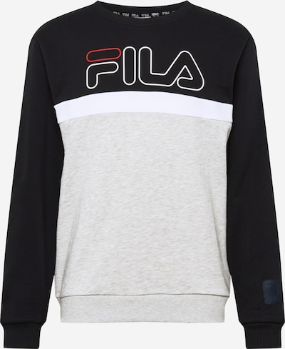 FILA Sweat de sport 'LAURUS' en gris clair / noir / blanc, Vue avec produit