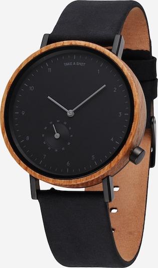 TAKE A SHOT Analoog horloge in de kleur Bruin / Zwart, Productweergave