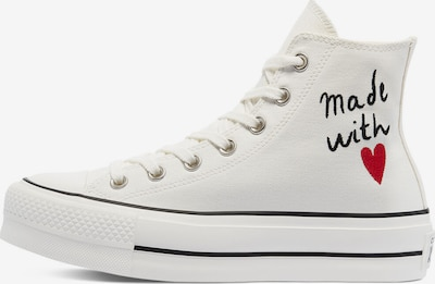 Sneaker alta 'CHUCK TAYLOR ALL STAR' CONVERSE di colore rosso / nero / offwhite, Visualizzazione prodotti