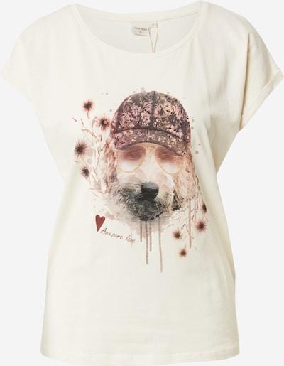 Cream T-Shirt 'Amat' in beige / creme / burgunder / schwarz, Produktansicht