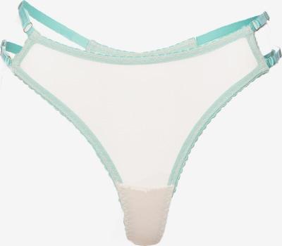 Aurore Lingerie String in mint / offwhite, Produktansicht
