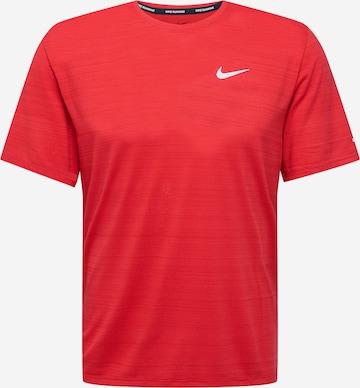 NIKE Funktsionaalne särk 'Miler', värv punane