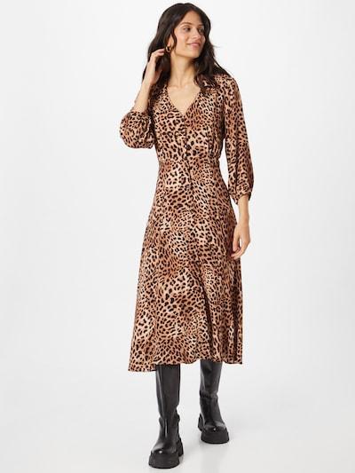 HUGO Shirt Dress 'Eoletta' in Light brown / Black, View model