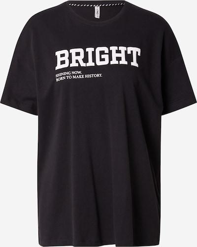 ONLY T-Shirt 'CANA' in schwarz / weiß, Produktansicht