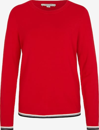 Ci comma casual identity Pullover in rot / schwarz / silber, Produktansicht