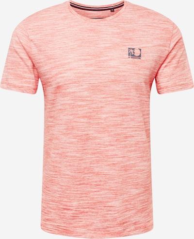 Petrol Industries T-Shirt en corail / blanc, Vue avec produit