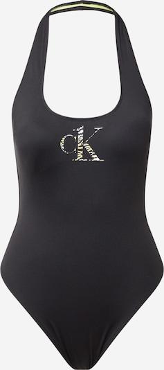 Calvin Klein Swimwear Maillot de bain en beige / jaune clair / noir, Vue avec produit