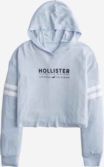 HOLLISTER Блузон с качулка в нощно синьо / опал / бяло, Преглед на продукта