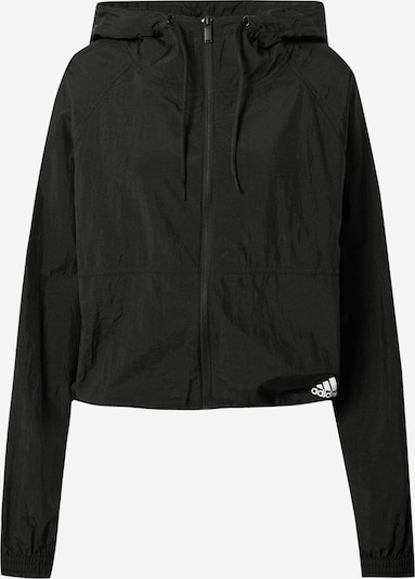ADIDAS PERFORMANCE Training jacket in black / white, Item view