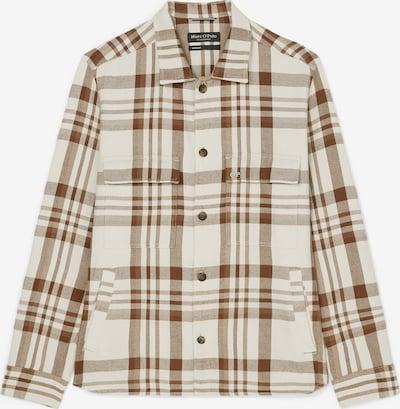 Marc O'Polo Hemd in beige / braun, Produktansicht