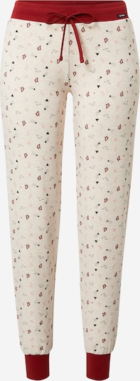 Skiny Pajama pants 'Party' in Beige mottled / Red, Item view