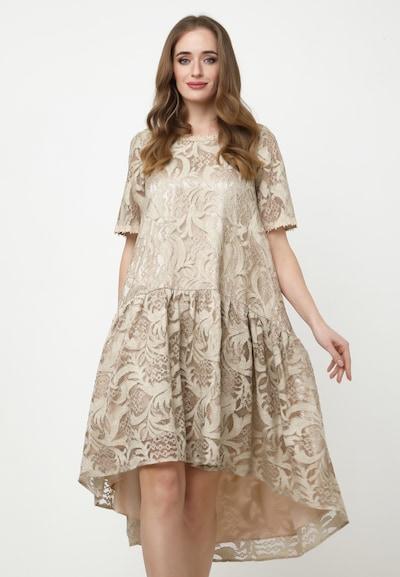 Madam-T Kleid 'Eva' in beige / camel, Modelansicht