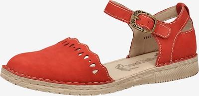 JOSEF SEIBEL Sandale in rot / orangerot: Frontalansicht