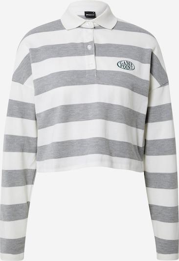 Gina Tricot Shirts 'Macy' i grå / hvid, Produktvisning