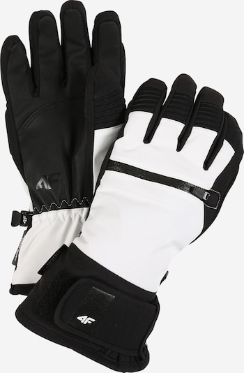 4F Sporthandschuhe in schwarz / weiß, Produktansicht