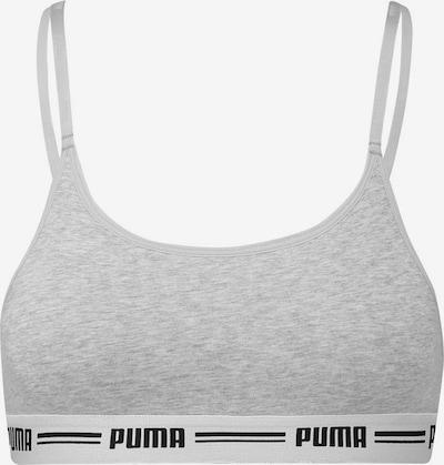 PUMA Sport bh in de kleur Grijs / Zwart / Wit, Productweergave