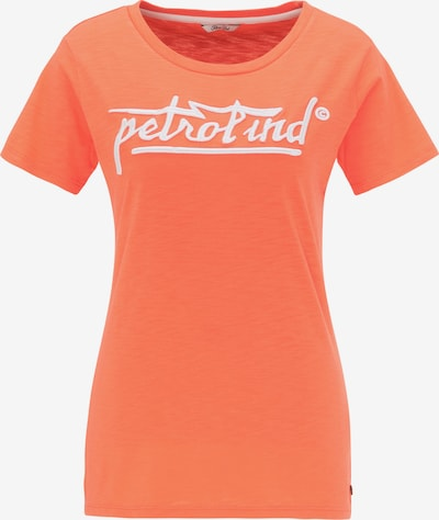 Petrol Industries T-shirt en orange / blanc, Vue avec produit