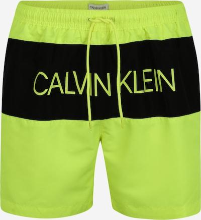 Calvin Klein Underwear Shorts de bain en jaune fluo / noir, Vue avec produit