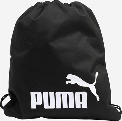 PUMA Turnbeutel 'Phase' in schwarz / weiß, Produktansicht