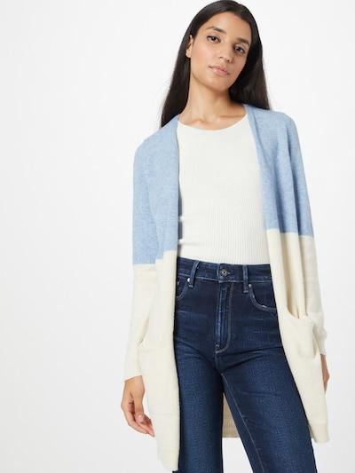 ONLY Cardigan 'QUEEN' in blau / weiß, Modelansicht