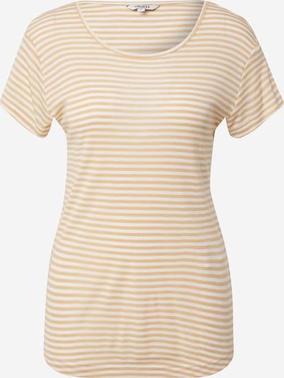 mbym Shirt 'Lucianna' in de kleur Beige / Wit, Productweergave